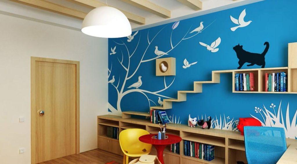 Фото настенных шкафчиков в интерьере детской комнаты