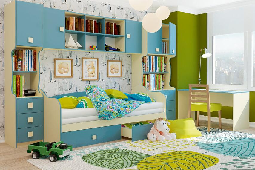Мебельный комплекс в детскую с навесным шкафом