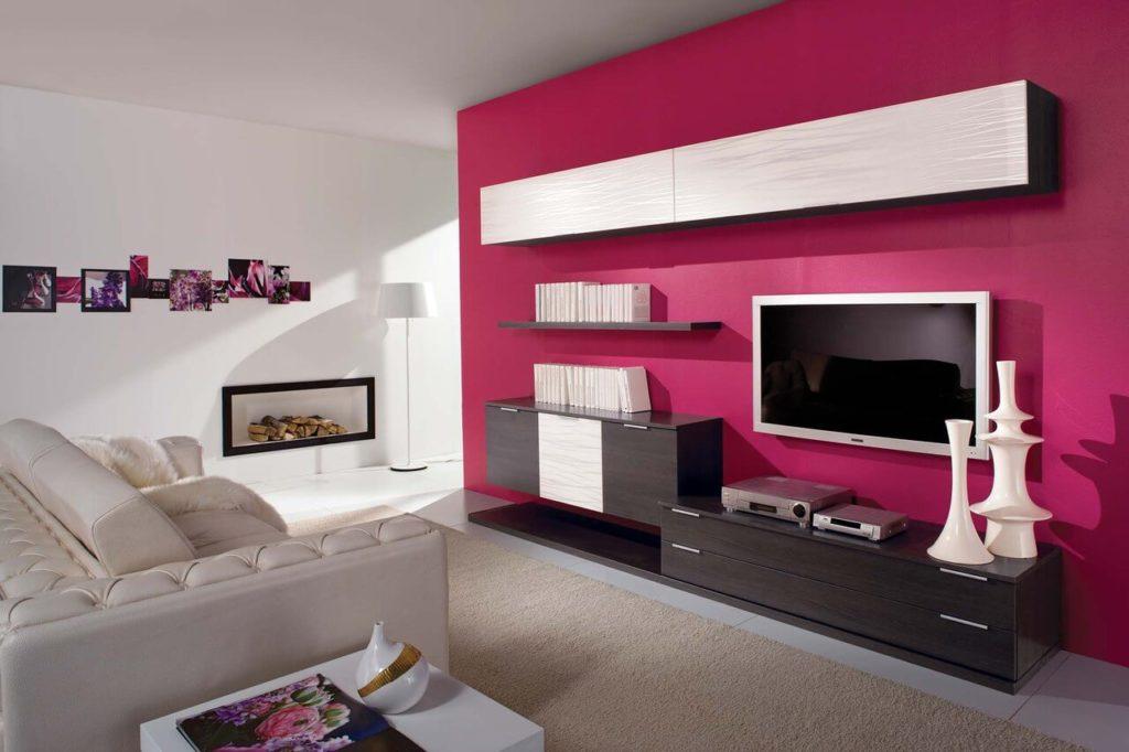 Мебель для гостиной с навесными шкафами