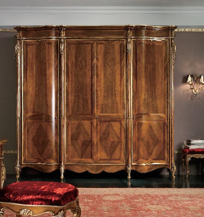 Классический деревянный платяной шкаф для одежды