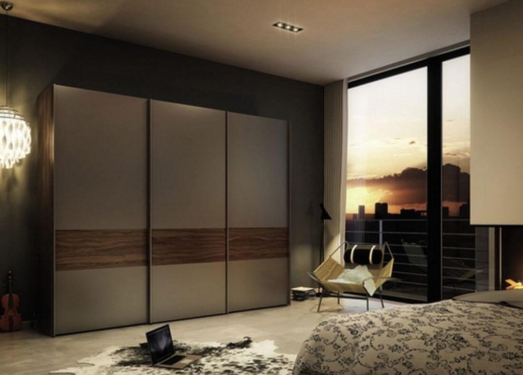 Шкаф купе в интерьере спальной