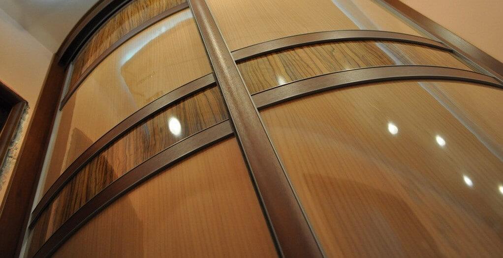 Фасад радиусного полукруглого шкафа