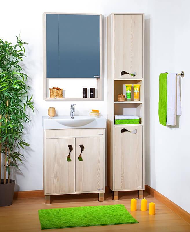 Бельевой шкаф в ванной