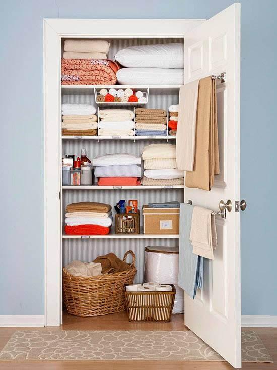 Встроенный шкаф для белья
