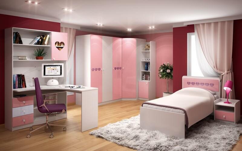 Фото шкафа в интерьере комнаты девочки