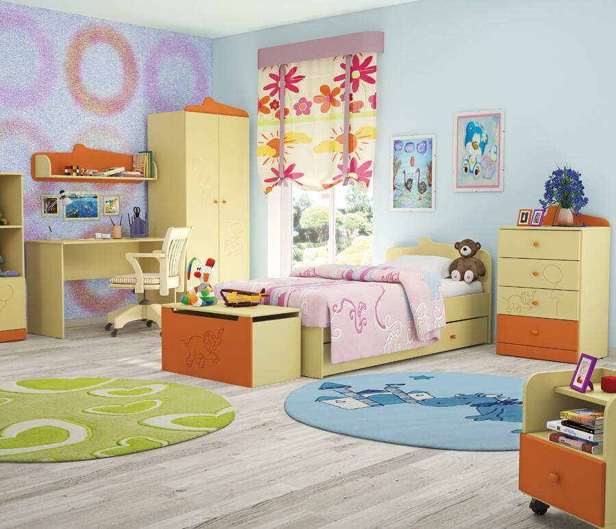 Фото детской комнаты с мебелью для девочки