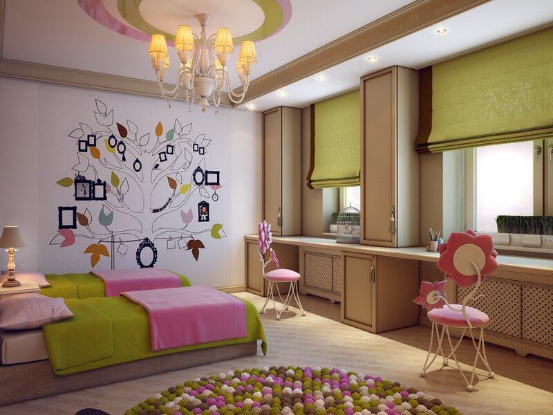Фото комнаты двух девочек