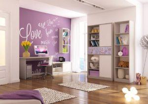 Интерьер комнаты девочки подростка