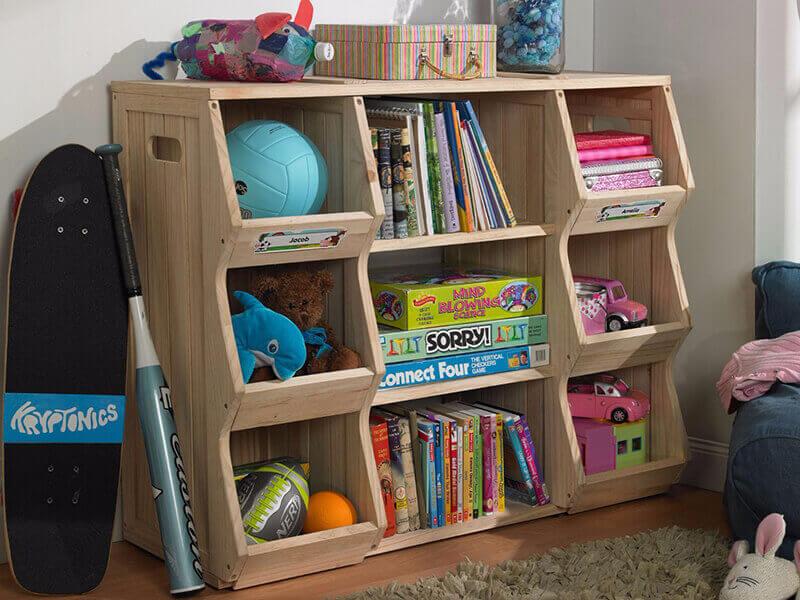 Шкаф для книг и игрушек в детскую комнату