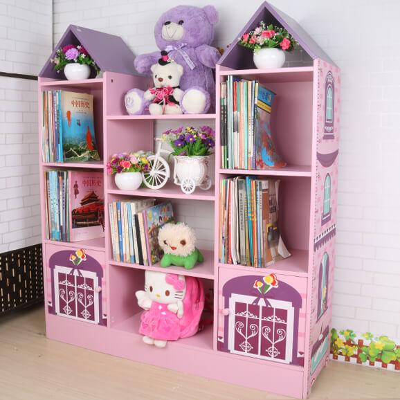 Шкаф для книг и игрушек в виде домика
