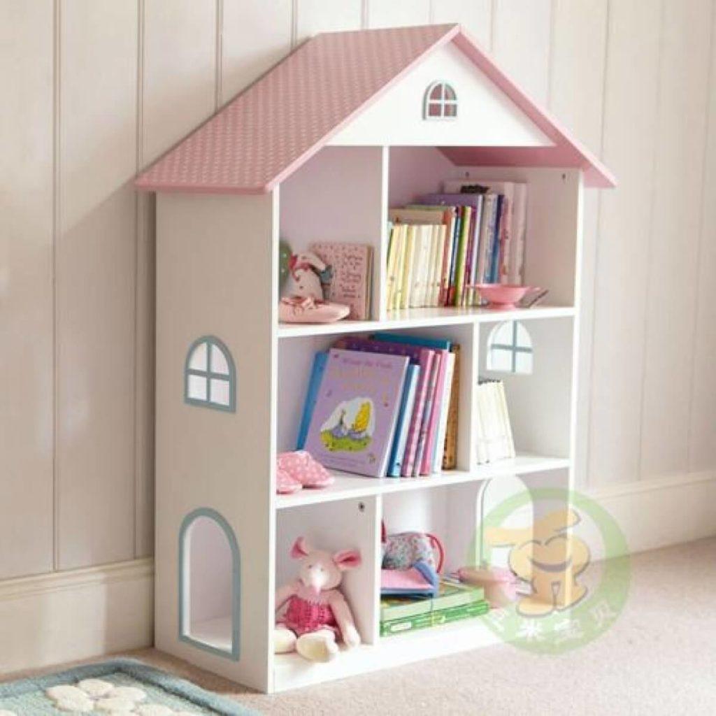 Детский шкаф для игрушек и книг для девочки