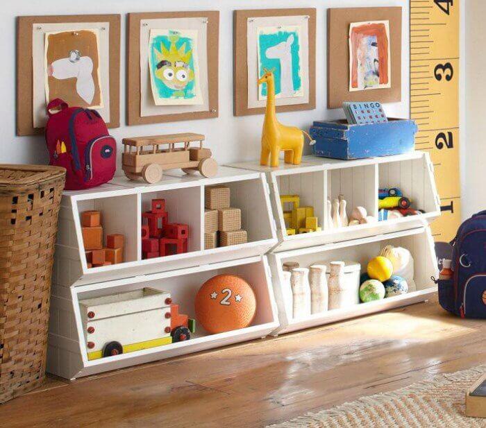 Низкие детские шкафы для игрушек