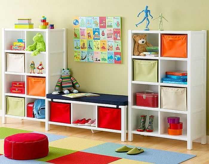 Детский шкаф для игрушек с выдвижными корзинами