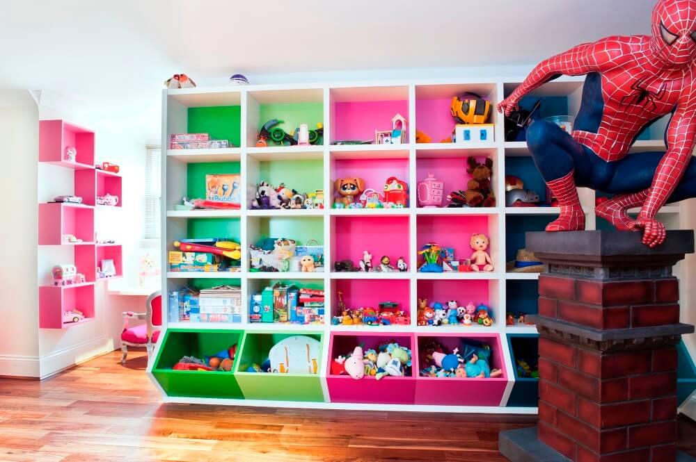 Шкаф для игрушек с открытыми стелажами