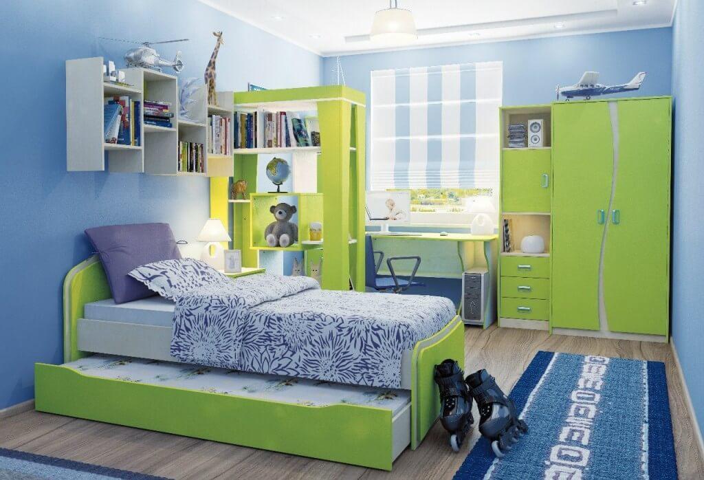 Интерьер комнаты двух мальчиков