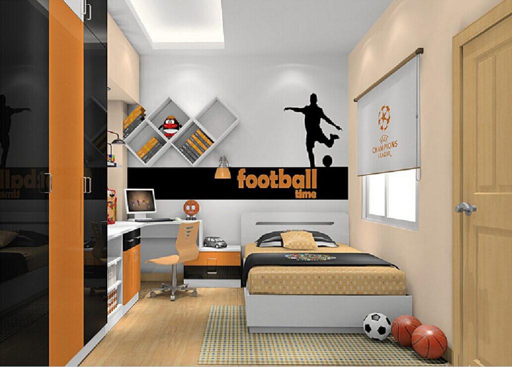 Комната мальчика в футбольном оформлении