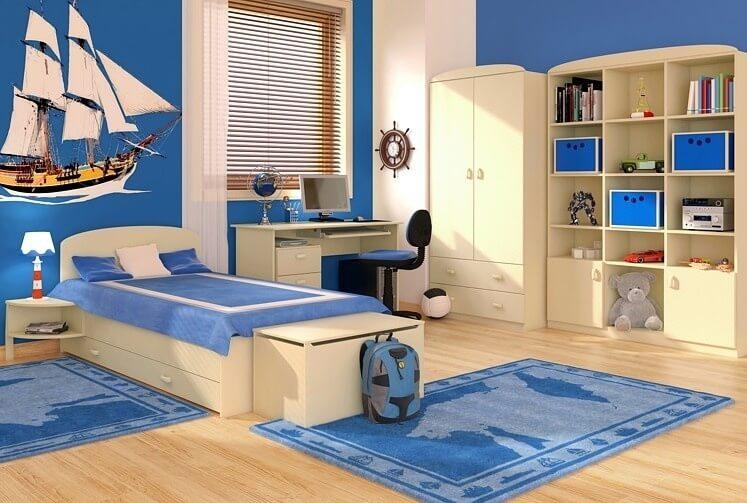 Дизайн спальни мальчика в морском стиле
