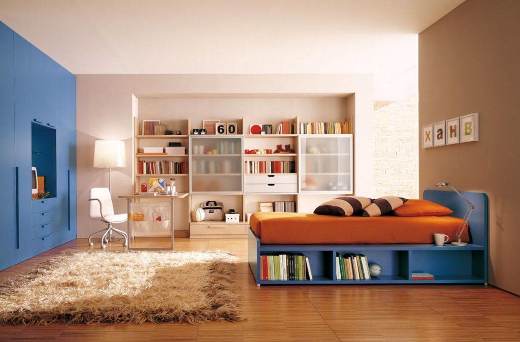Фото комнаты подростка со шкафом в нише