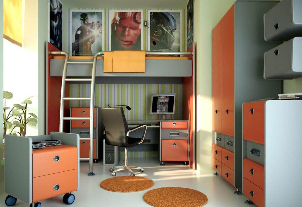 Интерьер детской комнаты подростка