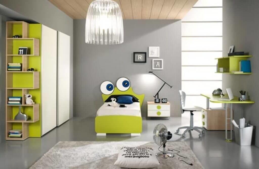 Деткая комната со шкафом купе в интерьере