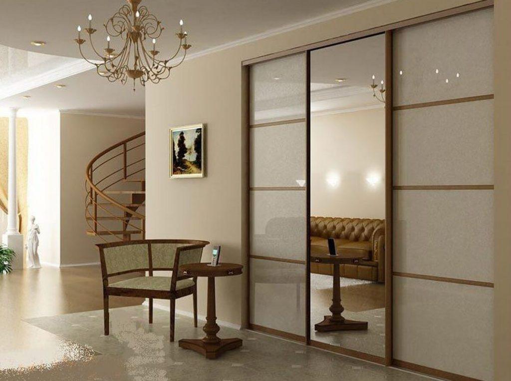 Фото встроенного шкафа с зеркалами