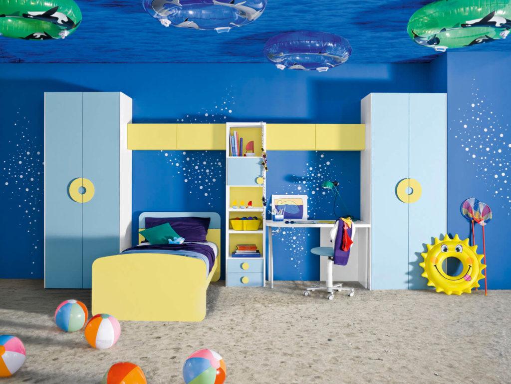 Дизайн детской комнаты в подводной тематике