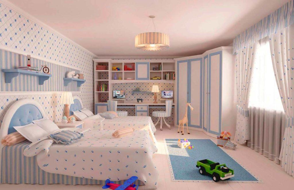 Детская комната девочки в классическом стиле