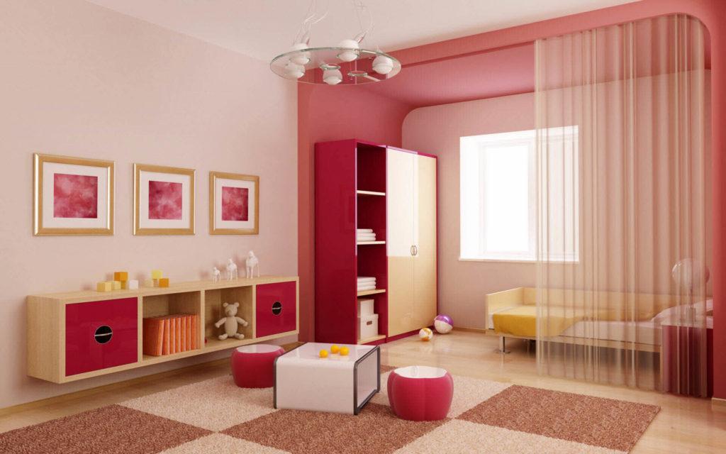 Пристенный шкаф в интерьере спальной комнаты девочки подростка