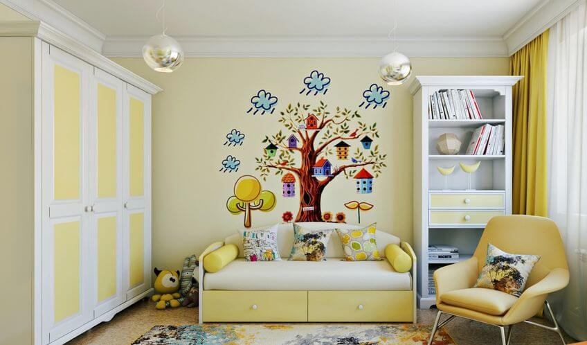 Дизайн комнаты подростка со шкафом в интерьере
