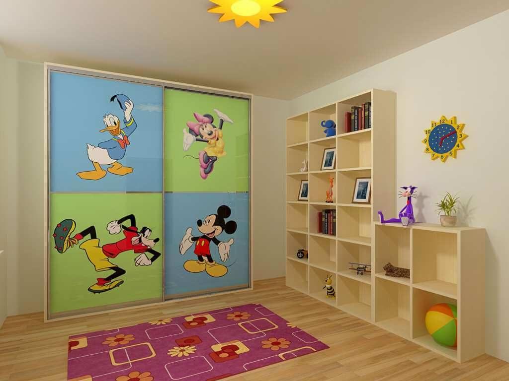 Детский шкаф-купе с изображением мультгероев