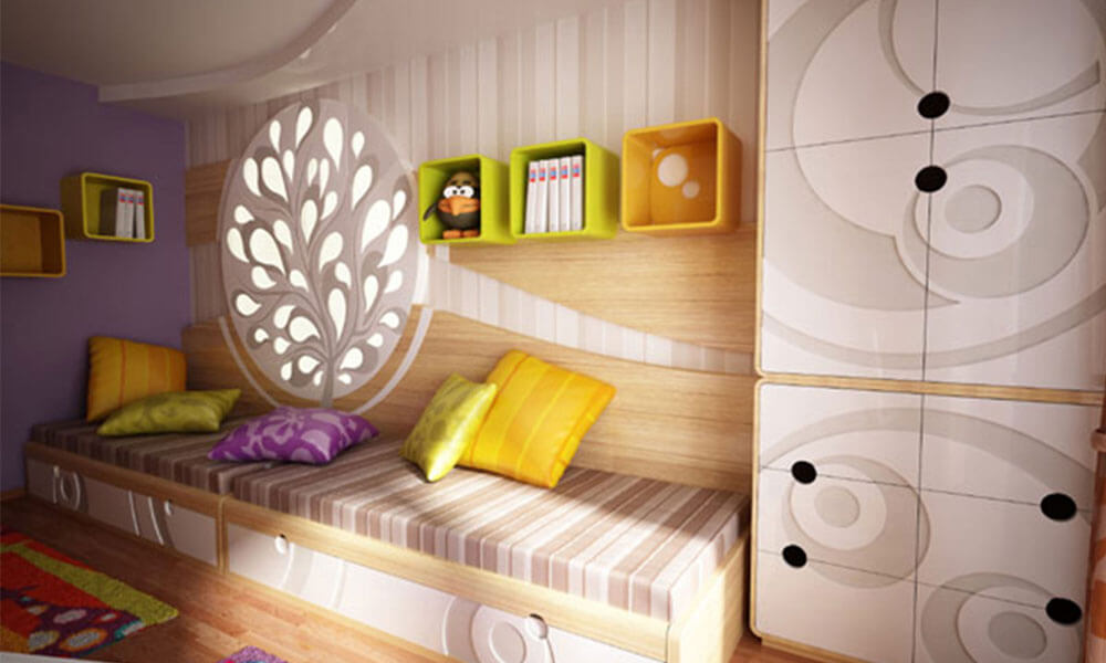Дизайн детской со шкафом в интерьере