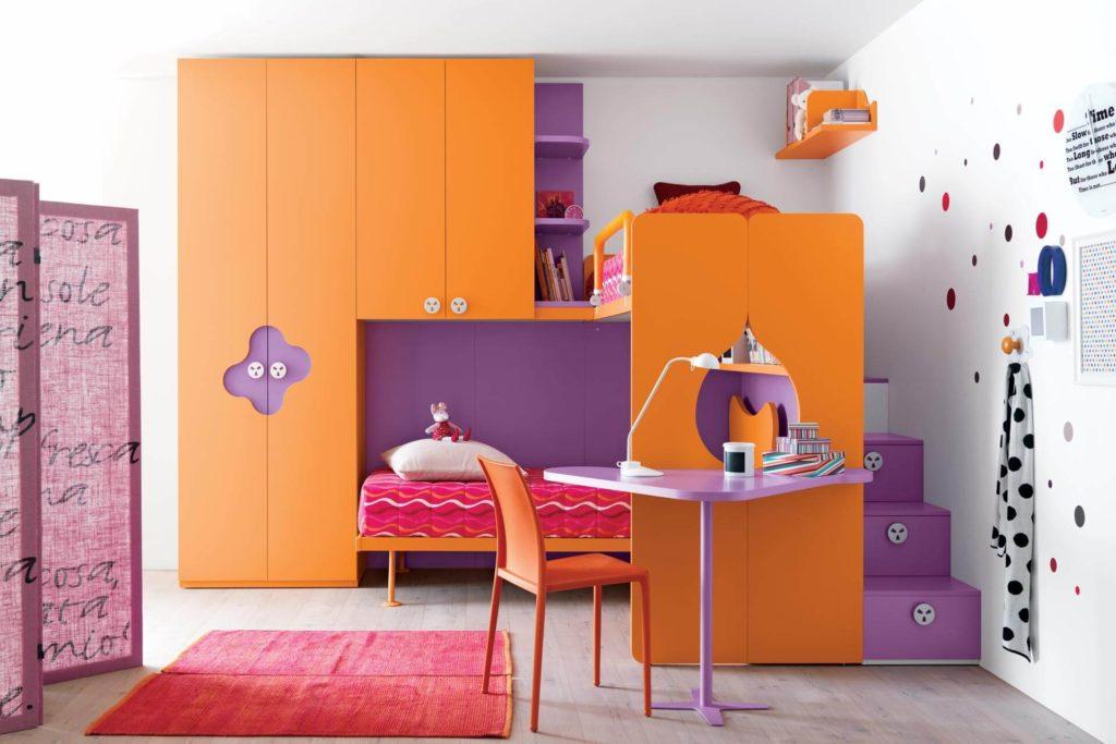 Фото детских шкафов для одежды совмещенных с кроватями