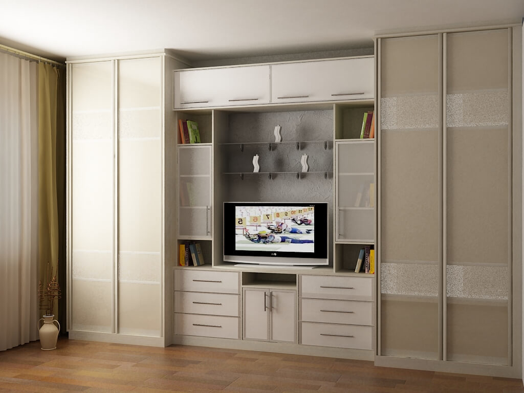 Мебельный комплекс для гостиной со шкафами для одежды