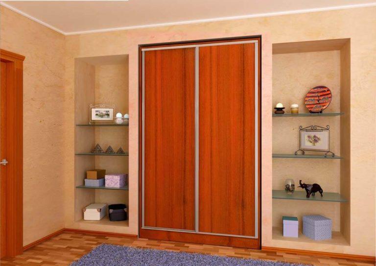 Шкаф в нише - виды и устройство правила выбора.