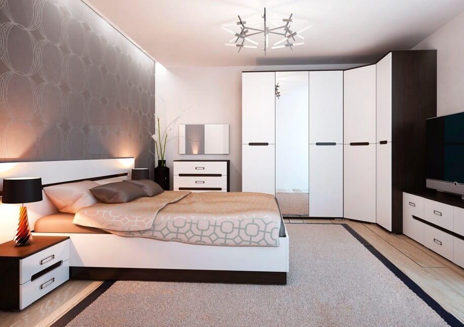 Угловой комплект шкафов для спальной