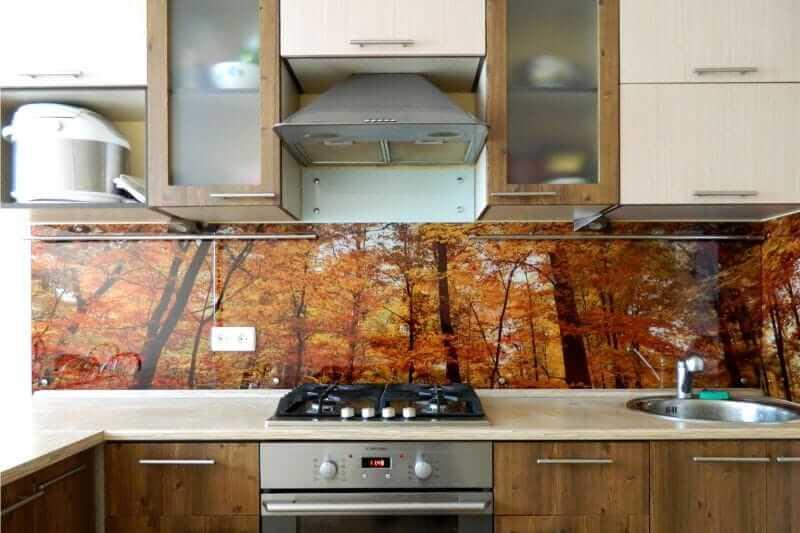 Фартук для кухни из стекла саратов