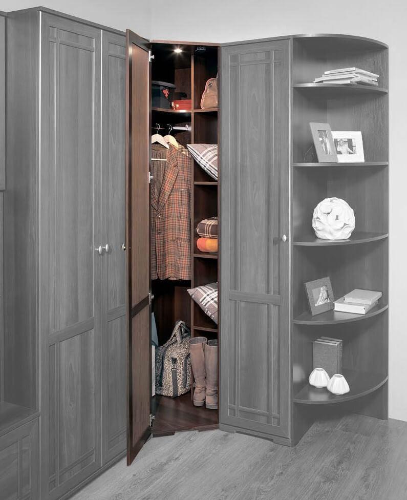 Угловой распашной шкаф - как выбрать: виды и устройство.