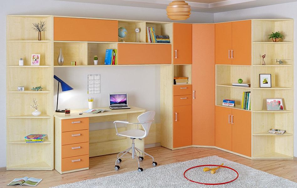 Угловой мебельный комплекс в детскую комнату