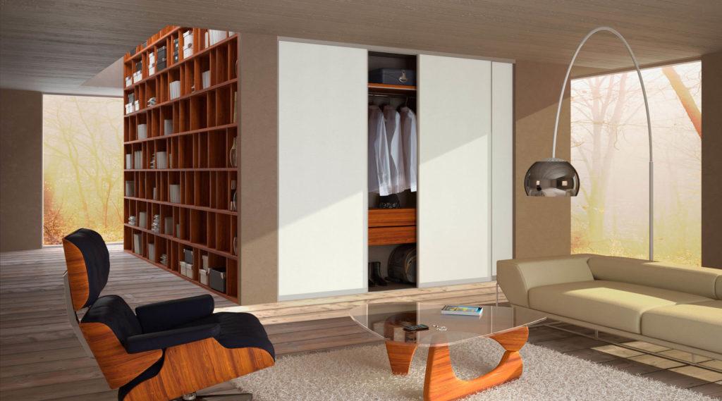 Фото встроенного шкафа в интерьере