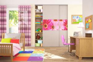 Встроенный шкаф купе в детской комнате
