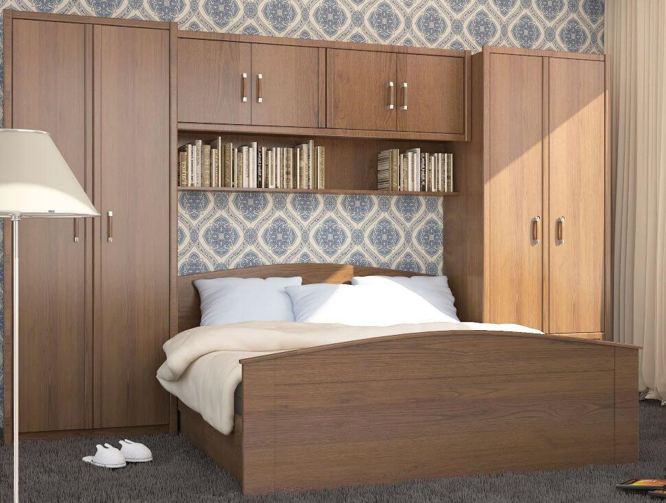 Фото спальной с модульными шкафами