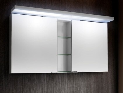 Фото шкафа с подсветкой для ванной комнаты
