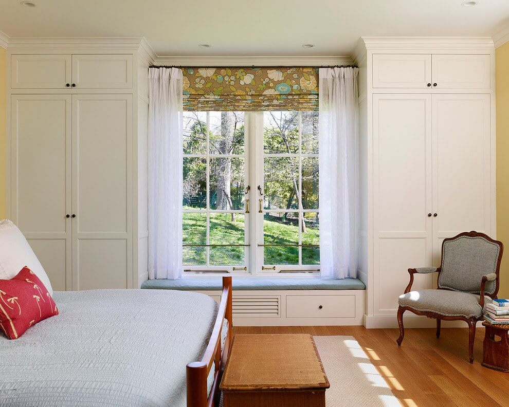 Шкаф вокруг окна - как устроен: виды конструкций.