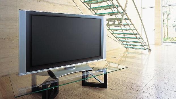 Тумба под телевизор с прозрачной стеклянной столешницей