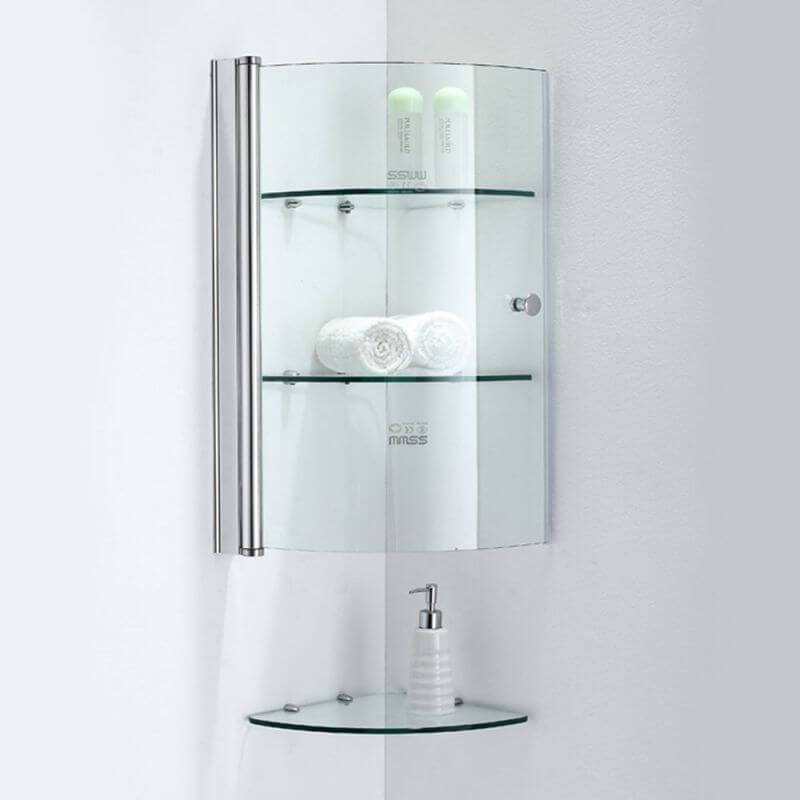 Фото углового подвесного шкафа в ванную