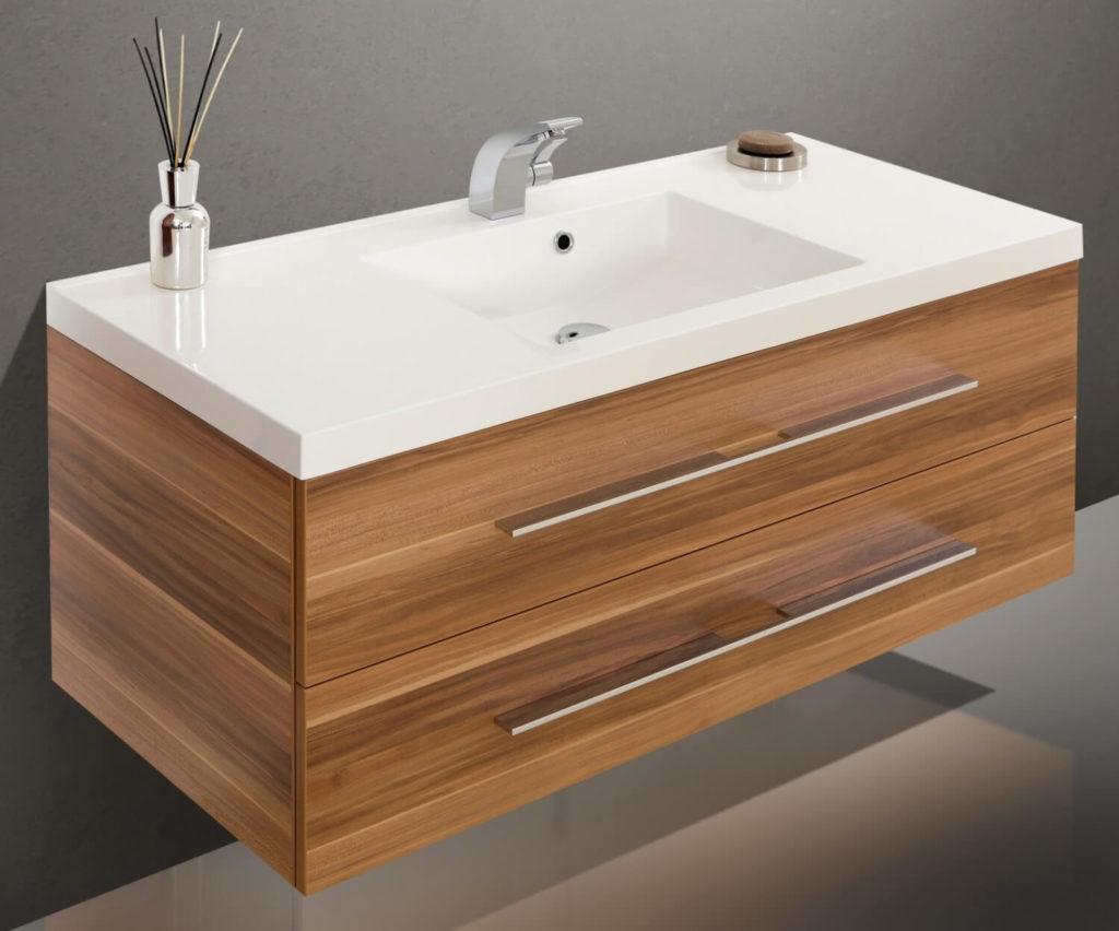 Фото подвесной тумбы для ванной в стиле HI-TECH