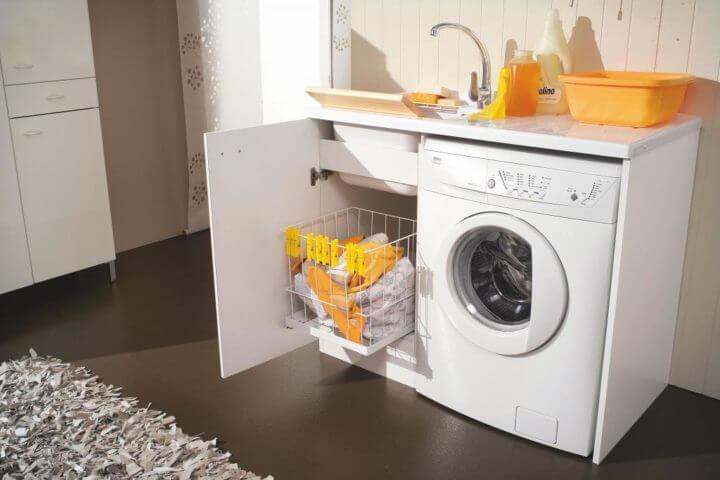 Фото тумба под стиральную машинку с раковиной