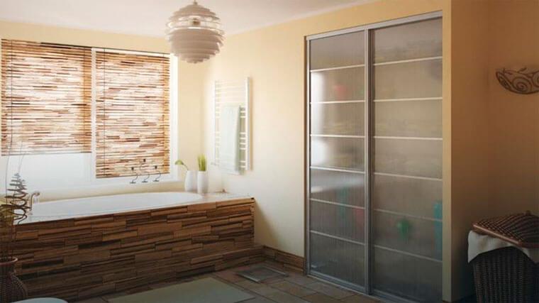 Встроенный шкаф купе в ванной