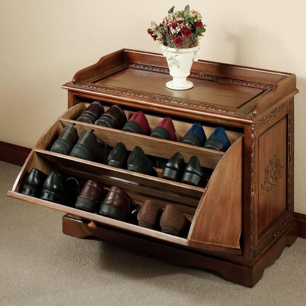 Деревянная обувница