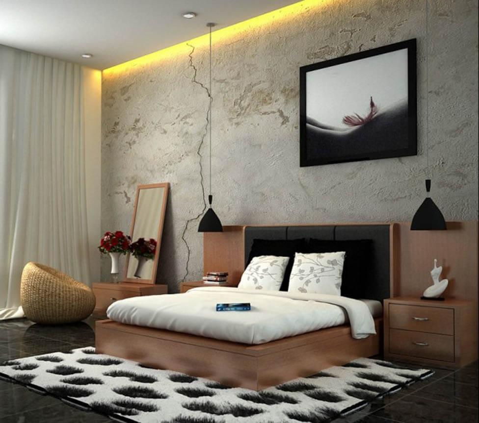 Фото спальной комнаты с прикроватными тумбочками